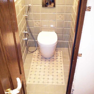 Туалет для персонала с инсталляцией и гигиеническим душем