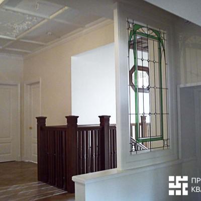 Витраж. Вид из кухонной зоны (на втором этаже)