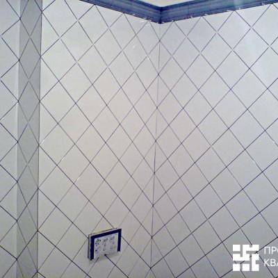 Размеры стен высчитывались до миллиметра, чтобы ромбы плитки вписывались целиком