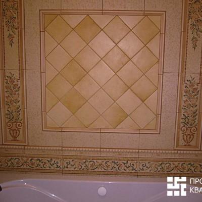 Ванная. Панно из кафельной плитки
