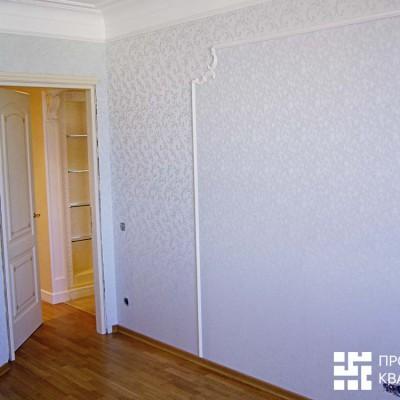 Спальня пятиугольной формы до установки мебели
