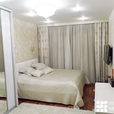 Ремонт квартиры на шоссе Революции. Спальня, общий вид