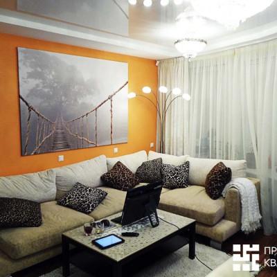 Ремонт квартиры на шоссе Революции. Остатками керамической мозаики мы выложили поверхность столика