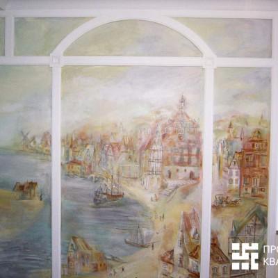 Ремонт квартиры на Дрезденской. Комната девочки. Художественная роспись, гипсовые тяги, гипсовая лепнина