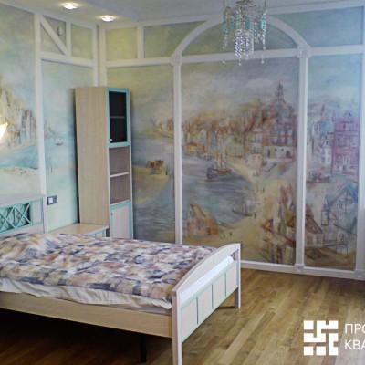 Ремонт квартиры на Дрезденской. Сказочная комната для девочки. В комнате пять углов