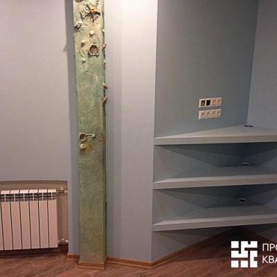 Ремонт квартиры на Орджоникидзе. Для техники сделаны полки из гипрока (ГКЛ)