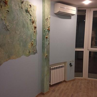 Ремонт квартиры на Орджоникидзе. Стена слева от панорамного окна