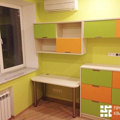 Ремонт квартиры на Орджоникидзе. Детская, вид справа