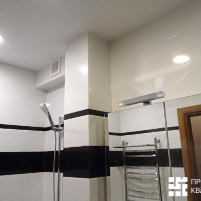 Ремонт квартиры на Жуковского. Зеркало в ванной