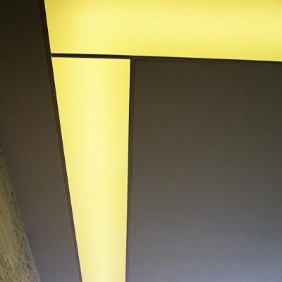 Ремонт квартиры на Королёва. Спальня, потолок из гипрока со встроенным светом