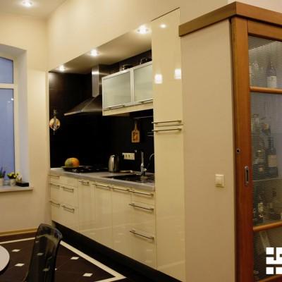Ремонт квартиры на Жуковского. Кухня (объединена с гостиной)
