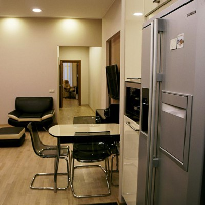 Ремонт квартиры на Жуковского. Кухня. Встроенная техника и шкафы