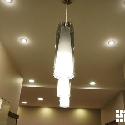 Ремонт квартиры на Жуковского. Кухня. Потолок из ГКЛ со встроенным светом
