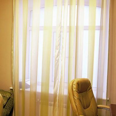 Ремонт квартиры на Жуковского. Кабинет. Восстановлена историческая арочная форма окна