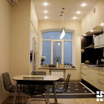 Ремонт квартиры на Жуковского. Кухонный гарнитур зашит в короба из ГКЛ