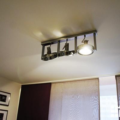 Потолочный светильник с поворотными элементами