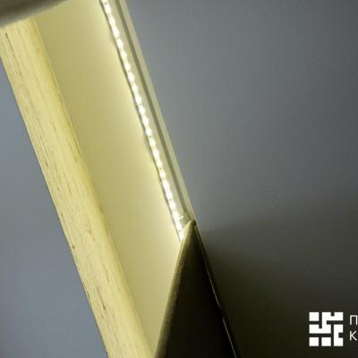 Так выглядит закарнизная ниша со светодиодной подсветкой снизу