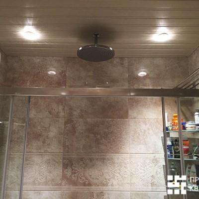 Ванная после ремонта. Реечный потолок